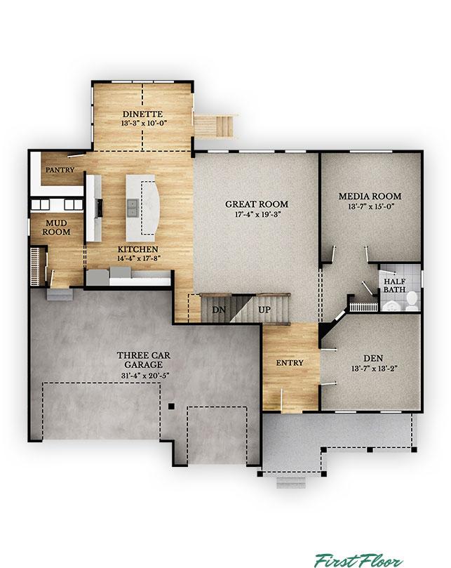 Cedar - First Floor