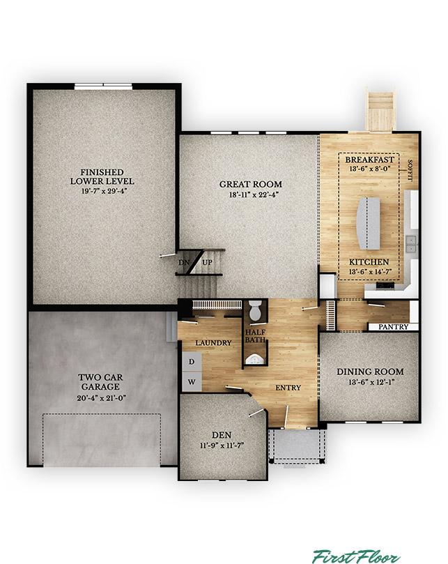 Alder Floorplan Multi Level Rockford Homes